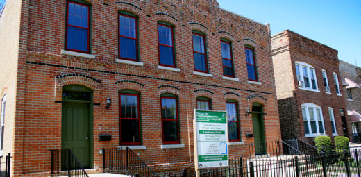Foreclosed townhomes renovated through the Neighborhood Stabilization Program in Pullman