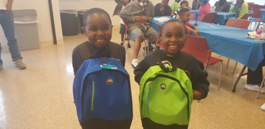 These kids at Wentworth Commons are so happy with their new school gear!