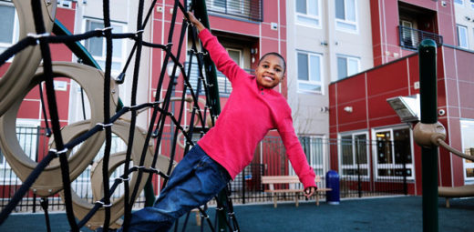 Mercy Housing Colorado kid playing