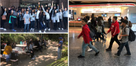 Collage of MAAP students touring