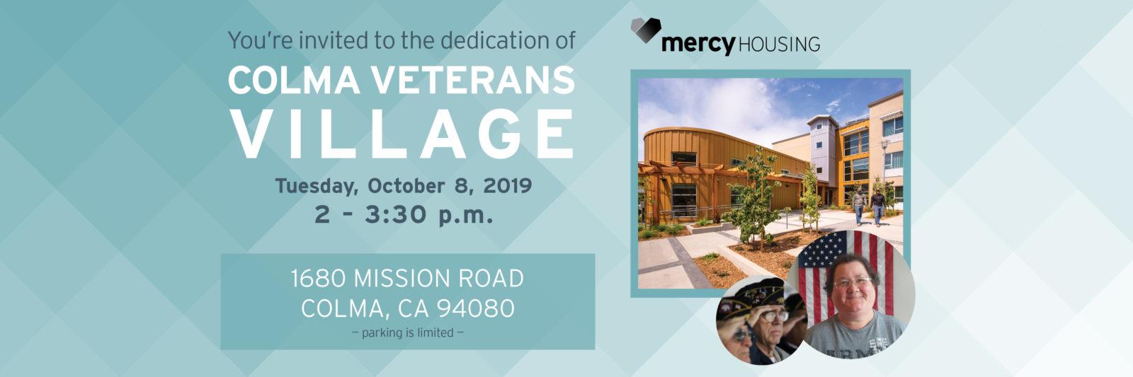 Colma Veterans Village Dedication | October 8 2-3:30pm