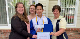 Gerson, with MHNW property staff — Erin, Nicole and Isabel