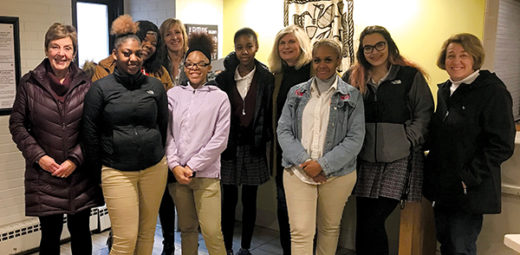 Students at St. Joan Antida High School found a creative way to serve Milwaukee women
