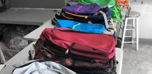 BackPacks on Display at Drive