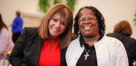 Debra, right, with Carole Meekins at St. Catherine's 125th Anniversary celebration.