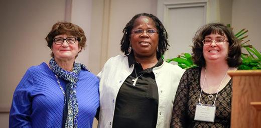 Ellen, Debra, and Caryl at St. Catherine's 125th Anniversary celebration.