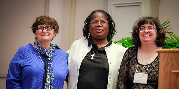 Ellen, Debra, and Caryl at St. Catherine's 125th Anniversary celebration.