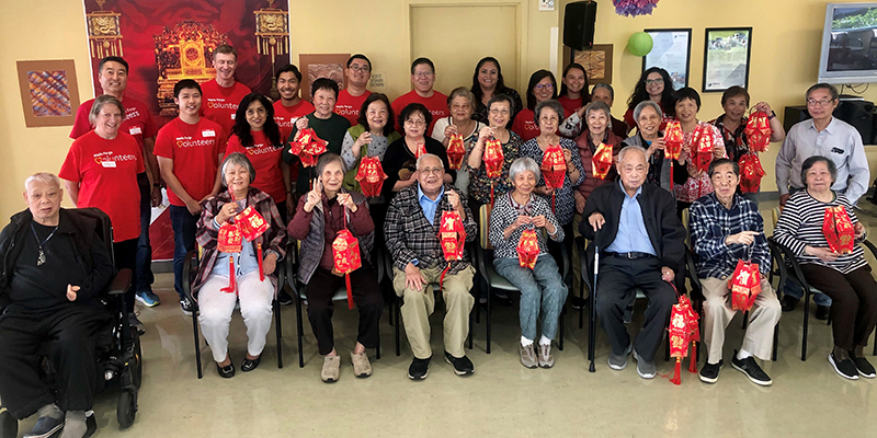 Volunteers and residents enjoyed this joyous holiday together