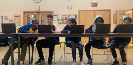 kids on computers