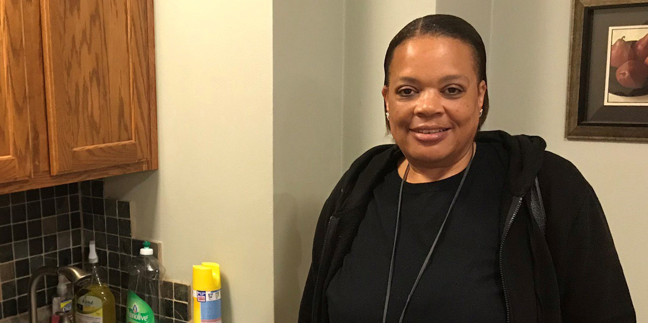 Tracey, a native of Milwaukee, has lived at Mercy Housing Lakefront's St. Catherine Residence since 2010