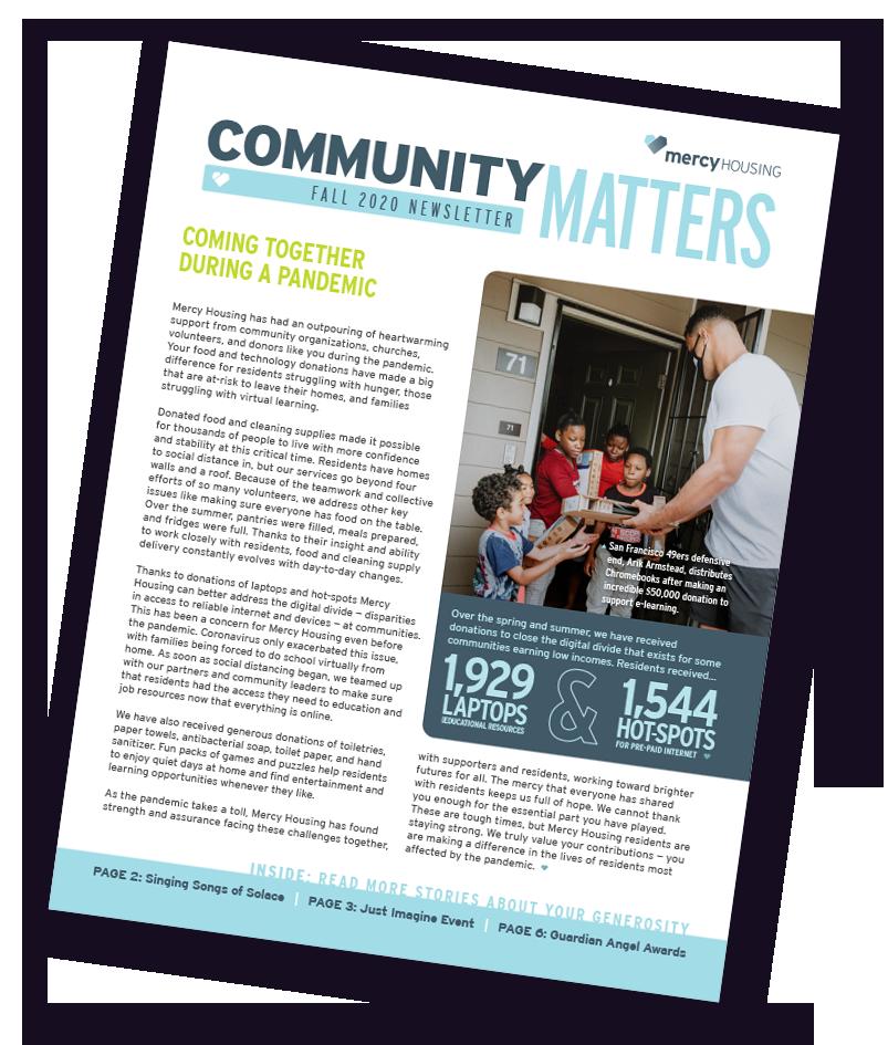 Community Matters Post-celebration Newsletter
