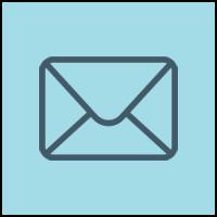 envelope icon in blue circle