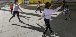 Outdoor virtual dance class at Gardner House