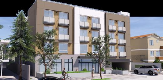 Rendering of Burbank Boulevard Senior Housing