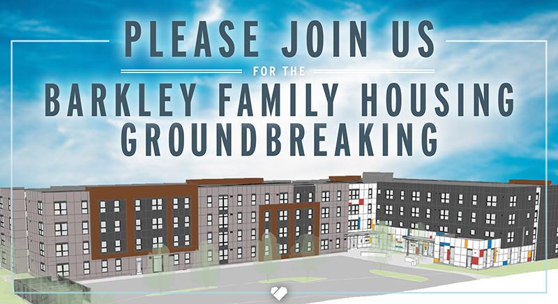 Please join us for the Barkley Family Housing groundbreaking